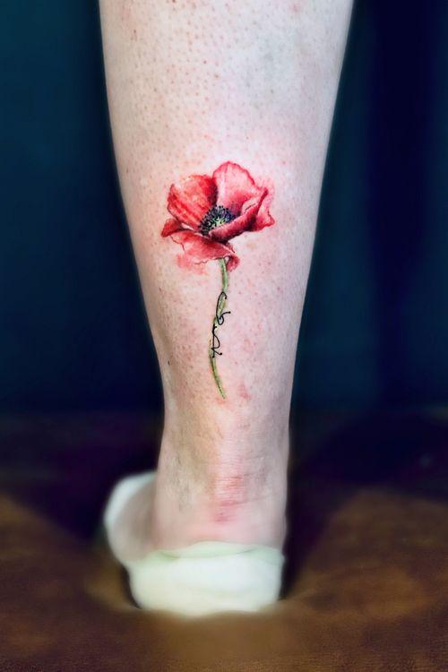 #poppytattoo #tattoocolor