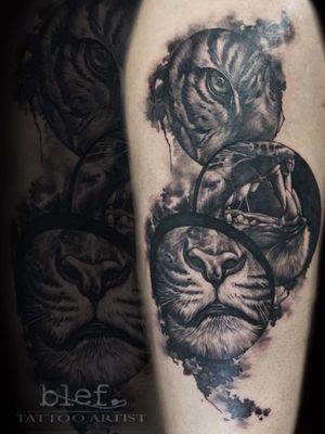 Tattoo done on a guest spot from my custom design #tattoo #tiger #tigerart #realistic #surrealistic #tattoodo #tigertattoo #watercolor #inkblot #ink #inkd #tattoolove #inkaddicts #bngsociety #tatuaz #tatuaje #bng #bngtattoo #realistictattoo #amazingtattoos #superbtattoos