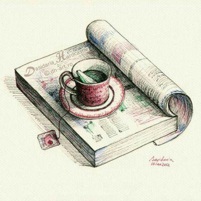 #teacup #book #drawing