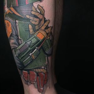 BobaFett. #elschwino #tattoo #tat #ink #inked #sketch #drawing #color #graphictattoo #graphicdesign #illustration #instatattoo #instagood #color #TAOT #tattooistartmag #tattooistartmagazine #thebesttattooartists #graphic #tattoosnob @germantattooers @feelfarbig @tattoo.workers @tatowiermagazin @tattooculturemag @tattooculturemagazine @tattrx @tattooistartmag @skinart_mag @skinart_healed @txttoo @txttooing @theartoftattooingofficial @thebesttattooartists @tattoosnob @tattoofest_mag @tattoomobile @tattoosnob @goldschwein_tattooatelier #blablabla