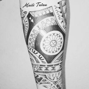 #polynesiantattoo #blacktattoo #patutiki #inked #inkedgirls