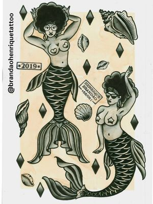 #blackwork #blkpwr #blackpower #curly #curlyhair #tattoo #tatuagem #recife #vintage #oldschool #tatovering #tatowieerung #boldandbright #tatouage #traditional #skinart #tatovering #sereia #beach #praia #mermaidtattoo #femaletattoo #mermaid #blackink #traditionaltattoo #traditional #rawtrad