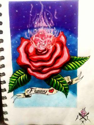 Rosa 🌹 #rosa #rose #universe #owndesign #diseñodetatuaje #flower