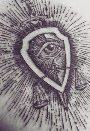 Especially sketch for my bro. Thanks 🙏🏼. #crete #agiosnikolaos #azov #sword #shield #eye #libre #justice #tattoo #engraving #power #talisman #lucky #newart #inkart #triumph #tattrx #top #flame #tat2 #tattooartist #skinartmag #minimalism #tattooink #warrior #linewok #modernart #freehand #sketching