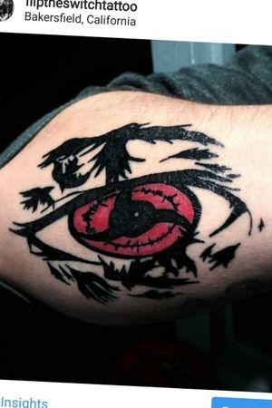 Japanese anime Naruto eye