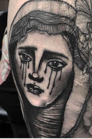 #neotrad #neotraditional #neotraditionaltattoo #neotradtattoo #neotraditionaleurope #neotraditionaluk #neotraditionalspain #mary #virginmary #witchytattoo #gypsytattoo #girlface #moontattoo #biblical