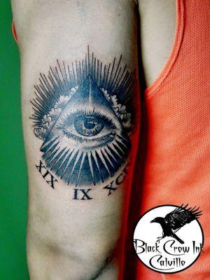#iluminati #ojo #eye #romannumerals #cloud