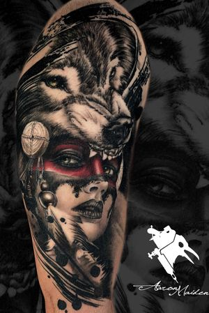 Healed tattoo. Made by @aaronmaidentattoo .  Tatuaje 100% curado. #tattoodo #tatuaje #tattoo #blackandgrey #realistic #realism #realistictattoo #wolf #facetattoo #wolftattoo #ink #inked