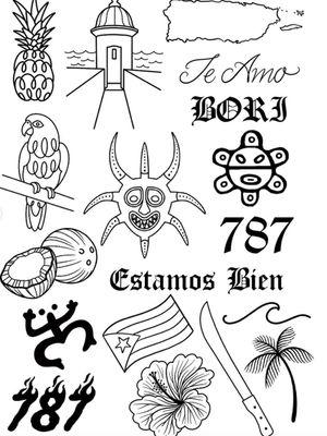 Megan Massacre's tattoo flash for the fundraiser - For The Kids: Flash Tattoo Fundraiser at Grit N Glory #GritNGlory #ForTheKids #PuertoRico #FlashTattoo #FlashEvent #fundraiser #MeganMassacre