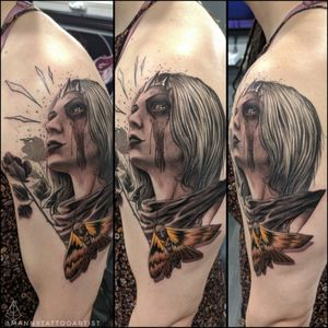 #femalewarrior . . #warrior #blackwork #customtattoo #darkart #artist #tattooartistfromCT #tatuajesenCt #MannyTattooArtist #ManuelCruzTattooArtist #S8TAN #skull #darkimagery #darkarts #blackart #blackwork #girltattoos #moth #portrait #portrait