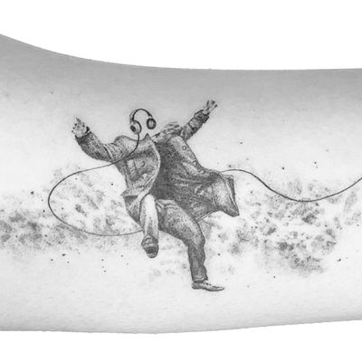 """""""And those who were seen dancing were thought to be insane by those who could not hear the music."""" ― Friedrich Nietzsche Swipe to see its real size Made for a young music composer and violinist to represent the feeling of getting lost in music. Thank you Wanda for coming and sharing your thoughts with me. Done at the beautiful @southcitymarket Finest black ink in London, check them out 🖤 Books open for London Inquiries: peter.laeviv@gmail.com . . . . . #tattoodo #instatattoo #londontattooartist #tattooart #blackandgreytattoo #microrealism #finelinetattoo #fineline #blackworkers #ink #tattooing #tattooartist #londontattoo #tattoo #linework #tattooprovocateur #laeviv #blackandgrey #londontattoo #microtattoo #blacktattooart #inkstinctsubmission #inkedmag #blackworkerssubmission #space #spacetattoo #galaxy #galaxytattoo #music #musictattoo"""