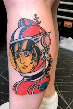 Retro space lady