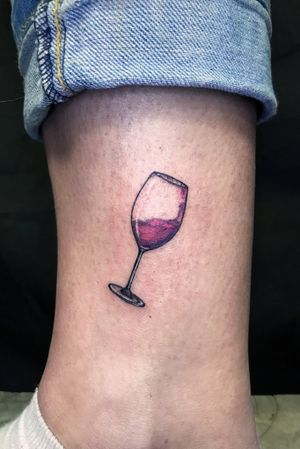 Red dry tattoo #wine #smalltattoo #tinytattoo #small #glass