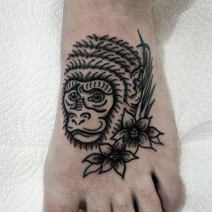 Cheeky Monkey tattoo on foot  #tattoo #tattoodo #tattoos #londontattoo #londontattoos #tattoolondon #foottattoo #foottattoos #monkeytattoo #monkeytattoos #boldtattoo #cutetattoo
