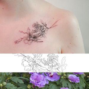 Jayeon Tattoo Tattooing Nature Seoul, kR https://open.kakao.com/o/sACZ2mgb Insta@tattooing_nature #koreatattoo #korea #seoul #fineline #flowertattoo #nature #naturetattoo