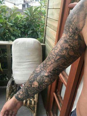 #oriental #Marileitattoo #domicilio #floripatattoo #lovetattoo #tattoo #tattooadomicilio #eletricink #everlast #artenapele #confiança