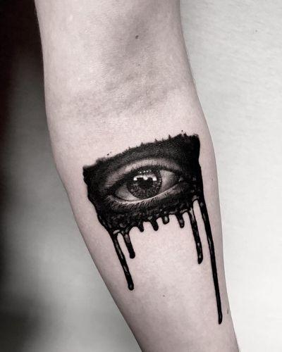 ••••••••••••••••••••••••••••••••••••••• #eye #realism #realistic #blackandgray #blackandgrayrealism #black #blackink #linework #tattoorealistic #realisticdrawing #splash #eyetattoo #blacktattoo #londontattooartist #realistictattoo #brushstroketattoo #anatomy #anatomytattoo #realisticeye