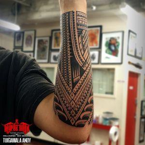 custom #freehand #samoan forearm #tattoo