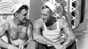Nautical Tattoos on Sailors #NauticalTattoos #sailortattoos #sailors #traditionaltattoos #traditional #AmericanTraditional #nautical
