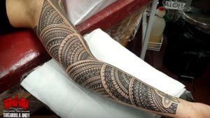 Completed #henna #mandala full female sleeve.