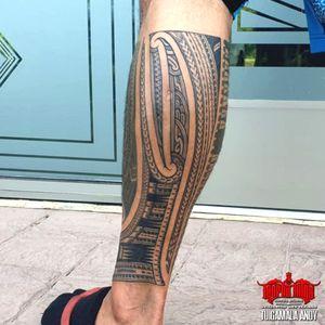 #freehand #samoan #maori #kirituhi calf sleeve filler