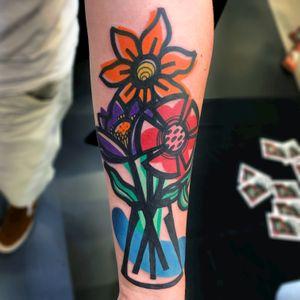 Flowers and vase #illustration