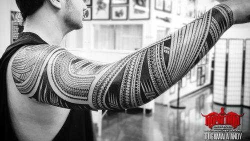 #freehand full #samoan #sleeve
