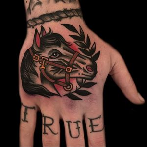Hand tattoo by Austin Maples #AustinMaples #horsetattoo #handtattoo - Top 10 Cities to Get Tattooed In #SanFrancisco #tattooidea #tattoo #tattooart #vacation #travel #top10 #top10cities #gettattooed