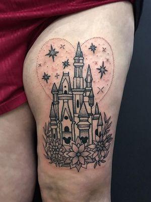 Disney castle!!!! Thank you @vickimonkton 🏰💖 - - - - - - - - - - - - #poppyrosetattoo #tattoo #tattoos #tattooing #tattooartist #juniortattooartist #art #butterluxe #butterluxe_uk #tattooeverythingelite #juniortattooist #stratforduponavon #stratforduponavontattoo #inked #blackwork #blackworktattoo #linework #lineworktattoo #prettytattoo #cutetattoo #disney #disneytattoo #disneytattoos #disneycastle #disneycastletattoo #allthingsdisney #disneyworld #disneyland #disneylife #supportgoodtattooing