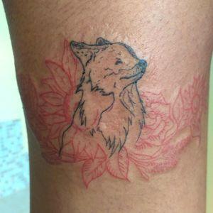 #fox #flower #redandblack