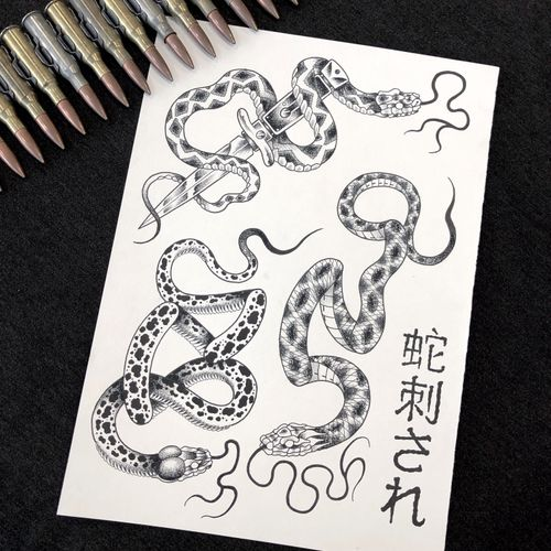 New flashs available. The right one is already tattooed. Feel free to dm me for more informations... Booking: mikeend666@gmail.com or DM/ #tattoo #tatouage #paris #paristattoo #tattooparis #flashtattoo #tattooflash #snake #snaketattoo #blackwork #darkart #dark #blackworkers #tattooing #btattooing #tatowierung #lyontattoo #rennestattoo #knifetattoo #knife