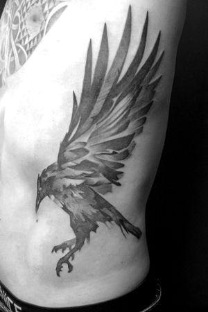 #crow #crowtattoo #blackandgrey