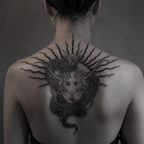 #tattoo #blacktattoo #darkart