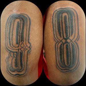 #1998 #number #lettering #blackandgrey #blackwork #illustrative #femaletattooartist #birthday #nyc #guyswithtattoos