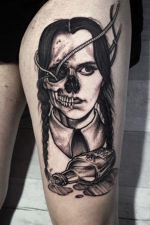 Wednesday Addams! #AddamsFamily #wednesdayaddams #skull