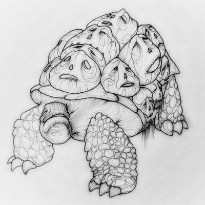 Turtle 🐢 #animal #masks #faces #monster #dark #black #dead #death #creature #mythical #old