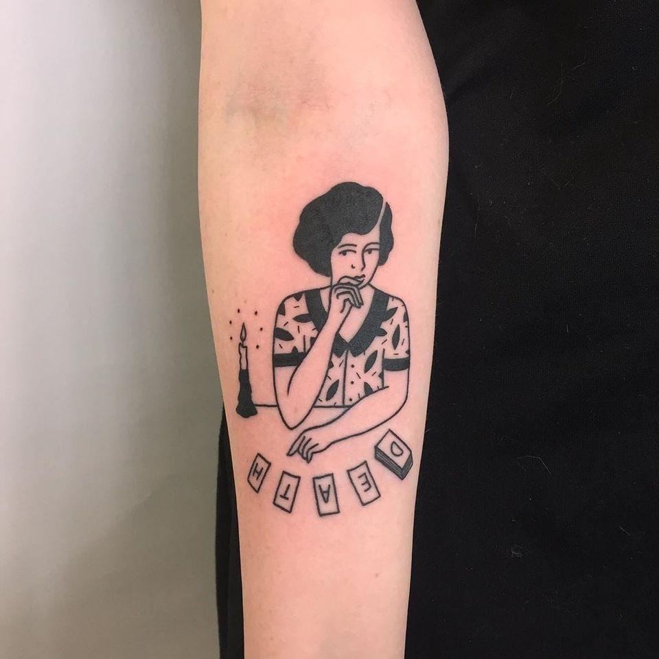 Portrait tattoo by Muriel de Mai of Minuit Dix in Montreal, Canada #MurielDeMai #MinuitDix #Montreal #femaletattooartist #femaletattooist #femaleartist #womensempowerment #safespace #tattoostudio #tattooshop