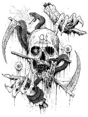 Skull, satan, eye
