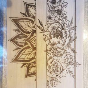 Leg/armdesign! #mandala #flowers #peonyflower #rose #BTS🇧🇪