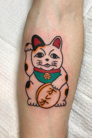 Maneki neko #luckycat #manekineko #japanese #portland #jfztattoo #portlandtattoos #pdxtattoos # japanesetattoo #gooducktattoo #cattattoo