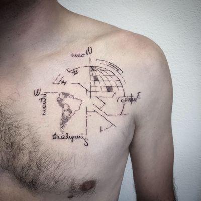 #tattoooftheday #photooftheday #tattoo #tatouage #geometrictattoo #geometric #earth #compasstattoo #mirror #mirrortattoo #dot #dots #dotwork #dotworktattoo #dottattoo #petitspoints #stippling #stippletattoo #lespetitspointsdefanny #lausanne #lausannetattoo #tattoolausanne