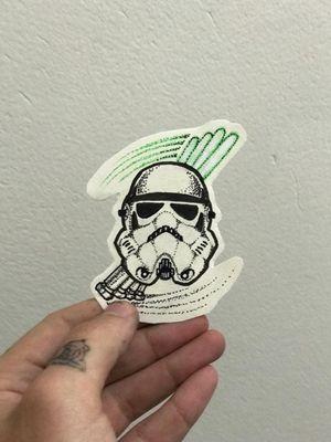 #stormtrooper #pontilhism #flash #starwars #starwarstattoo #blackwork