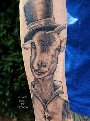 Healed goat #blackandgray