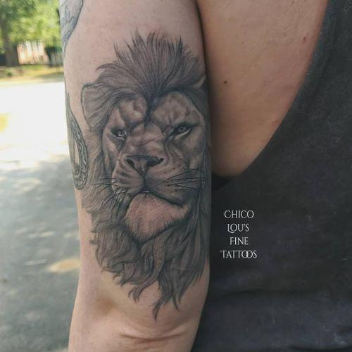 Healed Lannister  lion #blackandgreyrealism #gameofthronestattoos