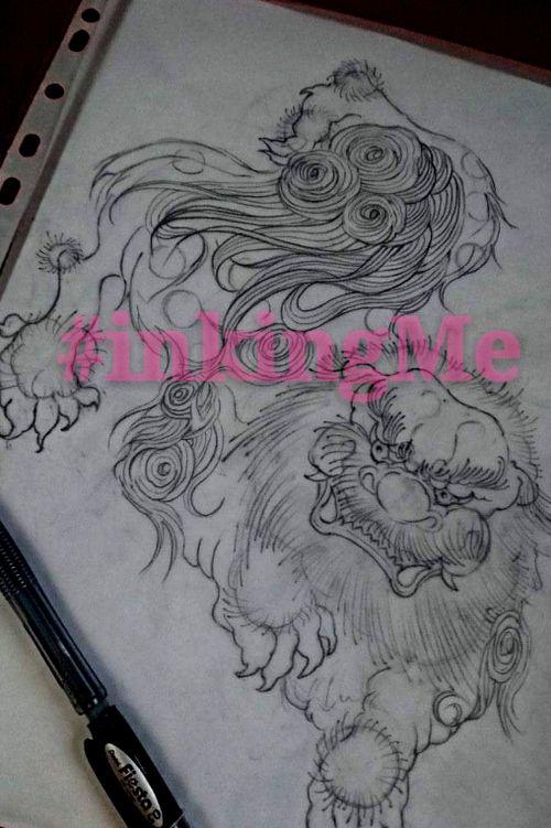 Japanese style China lion