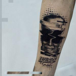 glitxing #Stanlee #glitchtattoo #TattooGlitch