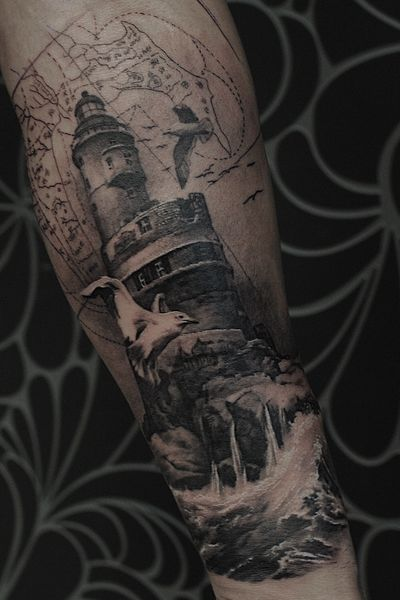 Aniva lighthouse #lighthouse#blackandgrey#realistic