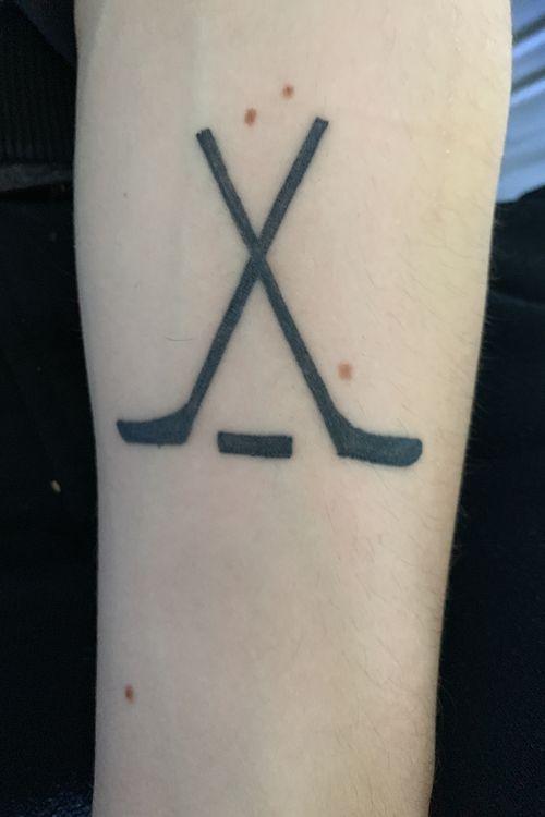 Hockey Stick #hockey #sports #firsttattoo #love
