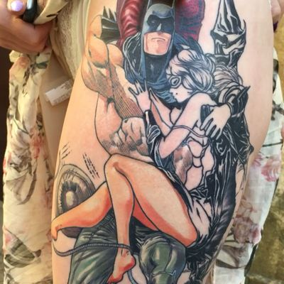 WIP #tattooartist #yenot #blackhousetattoo #tattoospb #dnestetujem #tetovani #tetovaniprague #tattoocz #kerka #praguetattoo #inkedup #tattooidea #tattoooftheday #bhtprg #blacktattoo #tattooistartmagazine #eternalink #eternaltattoosupply #dc #dccomics #catwoman #batman #selinakyle