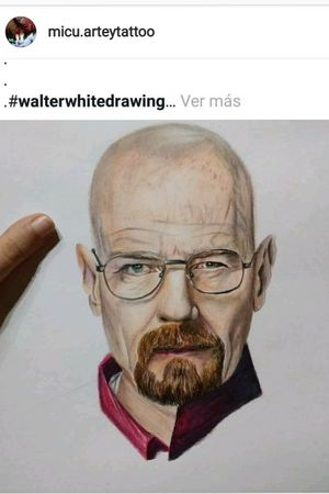 Dibujo Walter White ✍️ #walterwhite #realismo #color